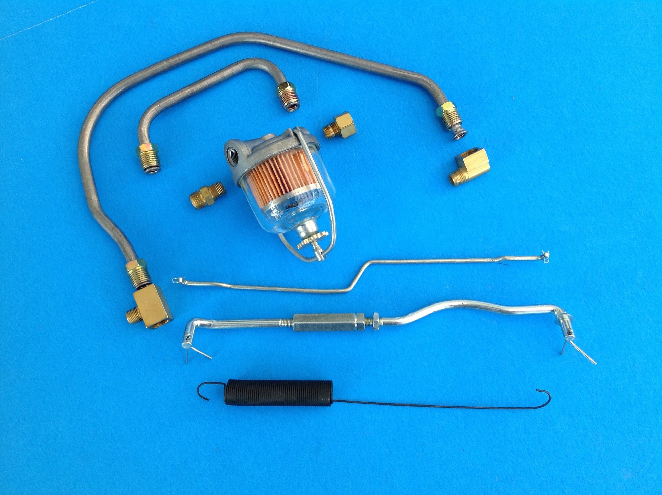IMG_4268 e1374721576299 1956 1957 carburetor rod,filter,line,dual quad carbs set up n l