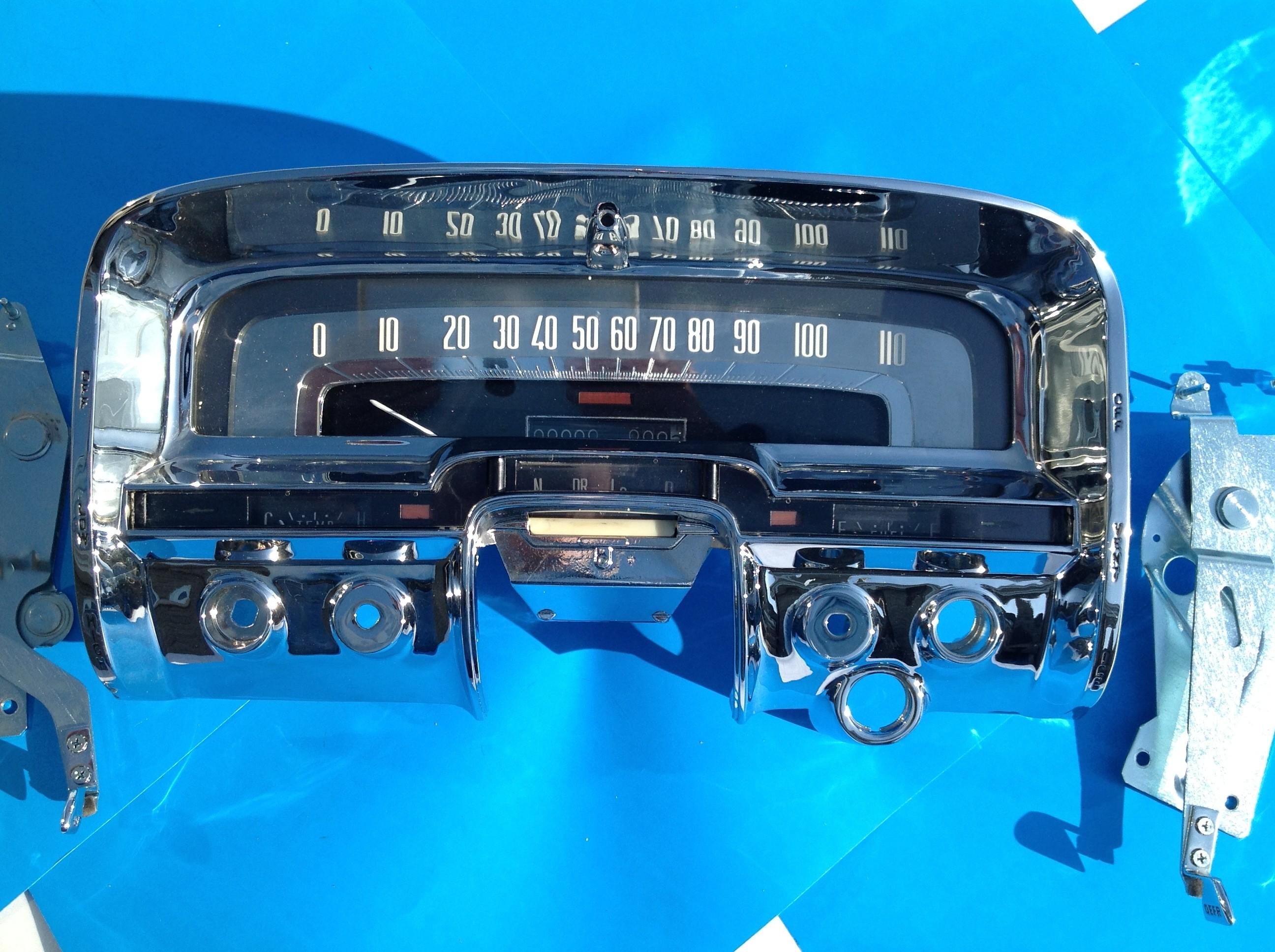 1954 1955 Cluster Instrument Panel Speedometer