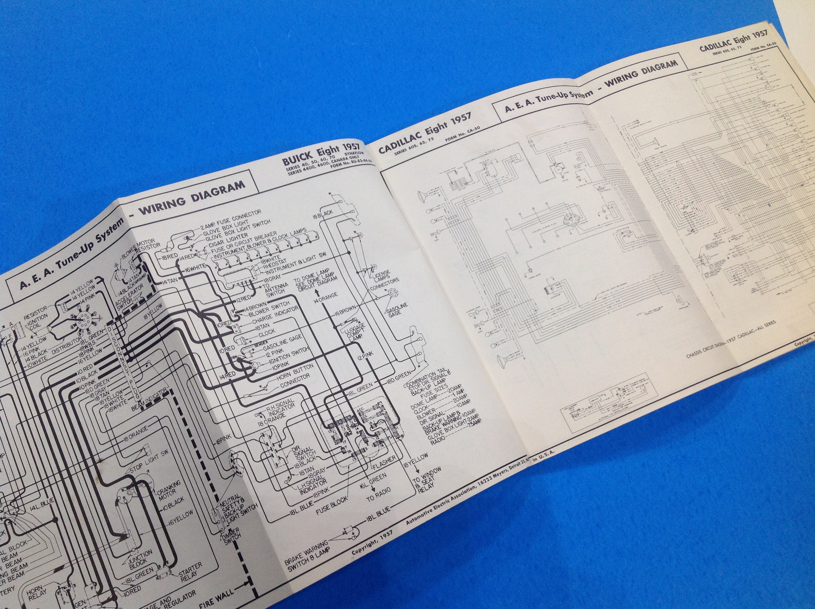 1957 - A.E.A. Wiring Diagram   NOS and RESTORED Cadillac Parts